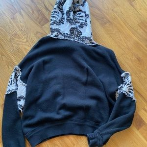 Free People Knit Hoodie Sweatshirt